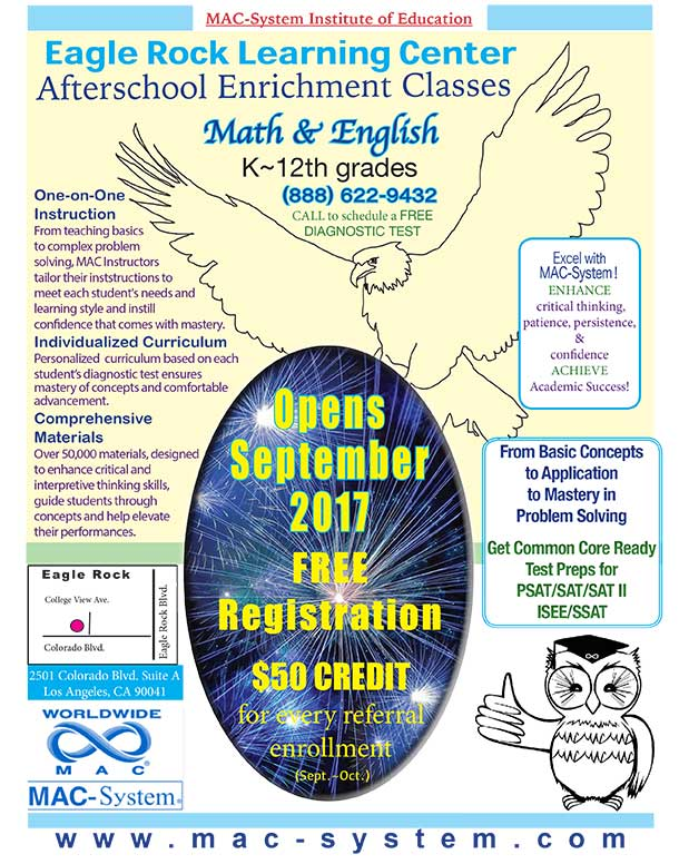 after school kids program eagle rock ca math english